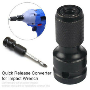 1-2-034-Drive-To-1-4-034-Hex-Drill-Chuck-Converters-Sockets-Adapters-Fit-Impact-Wrench
