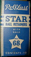 (pair) Rollfast Star Ball Retainers 68, Bendix Automatic,free Shipping Usa
