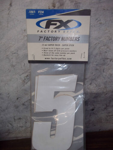 """FX Factory Effex 7/"""" Factory Numbers #5 QTY 3 08-90095"""