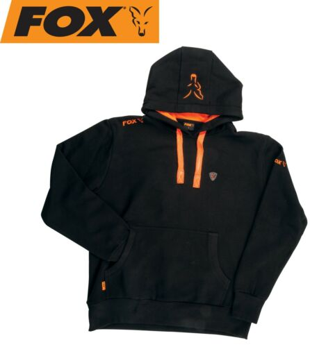 Angelpullover Sweater Fox Black // Orange Hoodie Kapuzenpullover Angelhoodie
