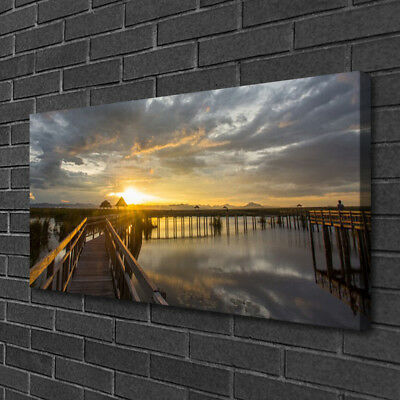 Leinwand-Bilder 100x50 Wandbild Canvas Kunstdruck Brücke Stadt Architektur