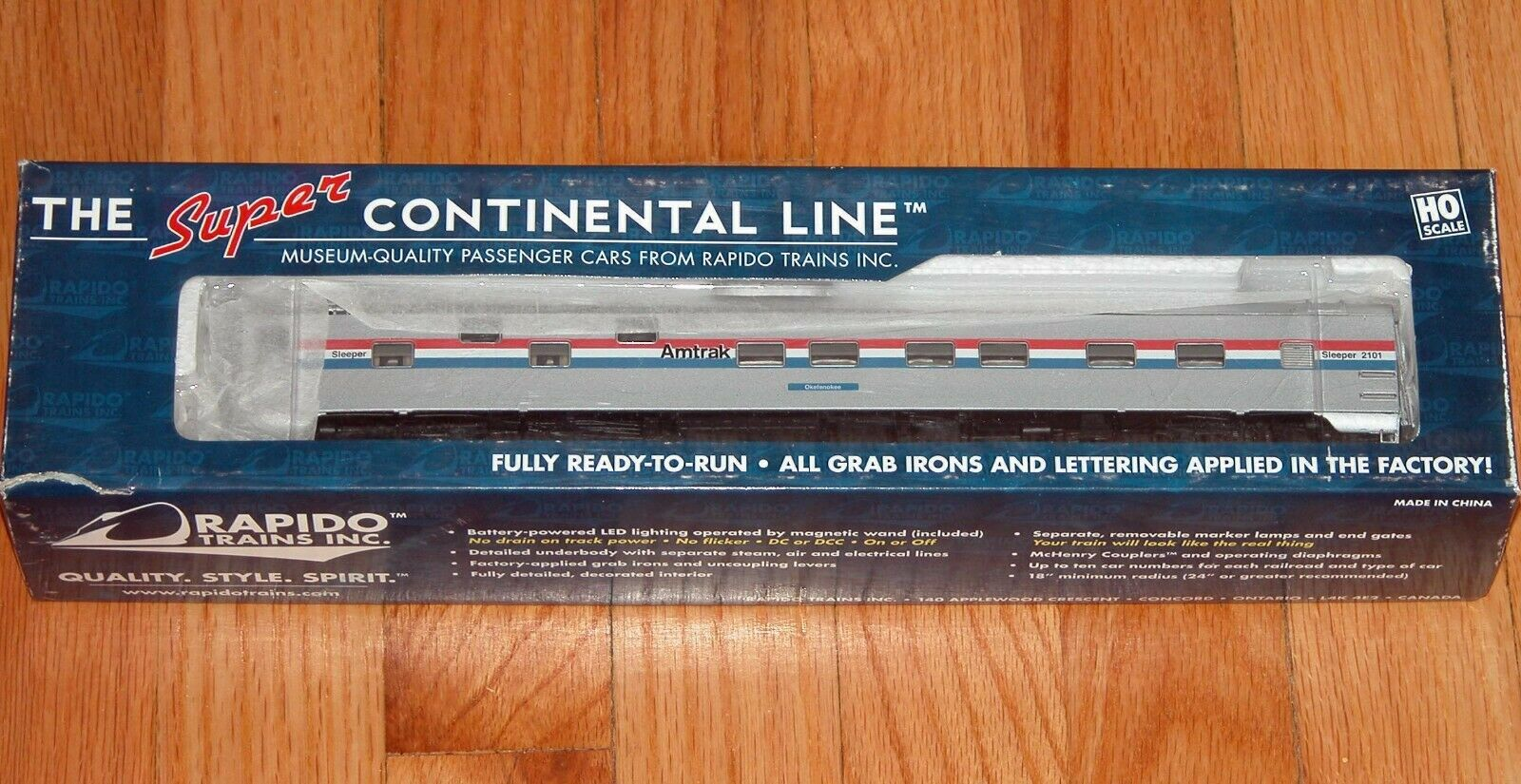 Rapido 101090 dúplex Durmiente Amtrak Phase 3 Okefenokee