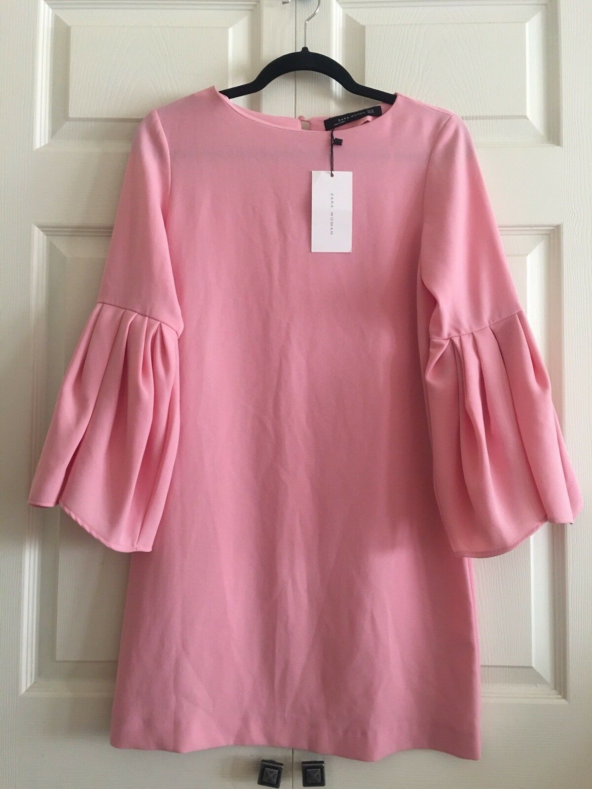NWT ZARA Pink Bell Sleeve Dress Size XS