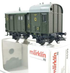 MARKLIN-4699-HO-GERMAN-DRG-GREEN-LIVERY-FREIGHT-TRAIN-BAGGAGE-VAN