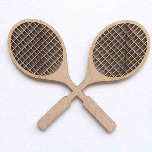 Wooden MDF Sport Tennis Racket Football Rugby Ball Wimbledon Craft Shapes