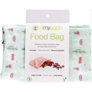 4myearth-Food-Bag-Large-Reusable-Lunch-Pouch-Snack-Fruit-Eco-Friendly-Llamas