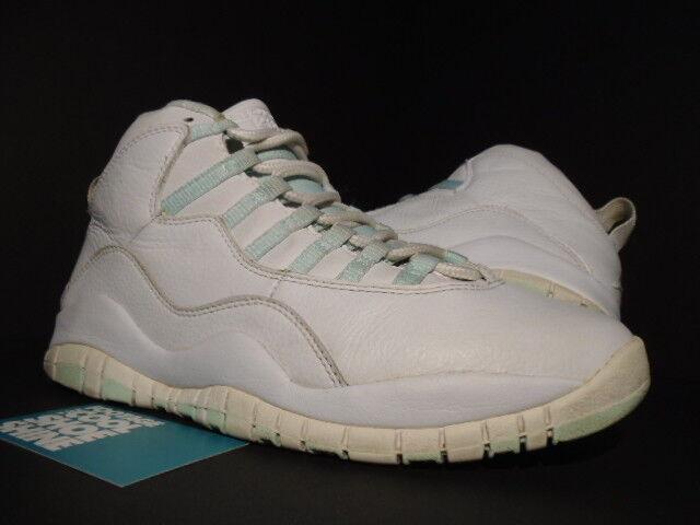 2005 Nike Air Jordan X 10 Retro blanc ICE GREEN rouge MINT STEEL 311770-131 9 7.5