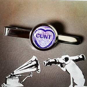Details about Unique RUDE TIECLIP c*nt LOVEHEART purple C WORD gift DAD  husband NOVELTY joke