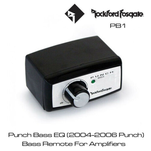 Bass Remote EQ with 0dB to Rockford Fosgate Punch PB1 18dB bass boost at 45Hz