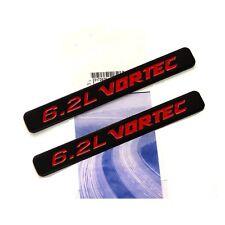 2x OEM 6.2L VORTEC Emblems HOOD Engine Badge Silverado Z71 GMC Sierra Black Red