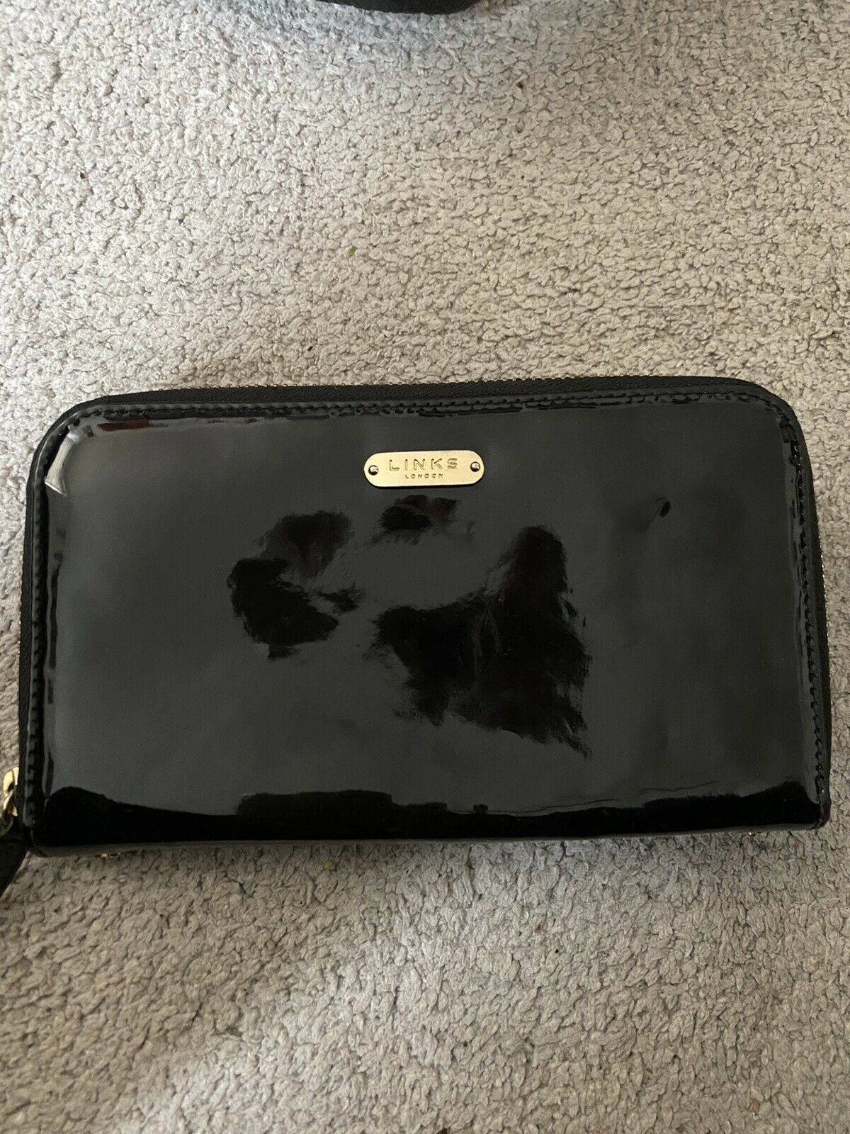 Links Of London Leather Purse With Gold Zip