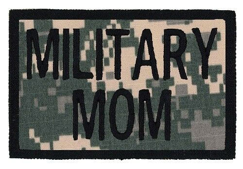 """24 HR SHIP USA MADE! MILITARY MOM Embroidered Tactical Morale Hat 2/""""x3/"""" Patch"""