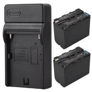 2x-7800mAh-Li-ion-Battery-Pack-Ladegeraet-fuer-Sony-NP-F960-NP-F970-Ersatz-Akku