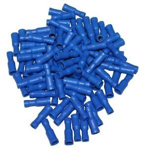 Lot De 100 Cosses électriques Femelles Rondes Isolés à Sertir 4mm Bleu - C1300