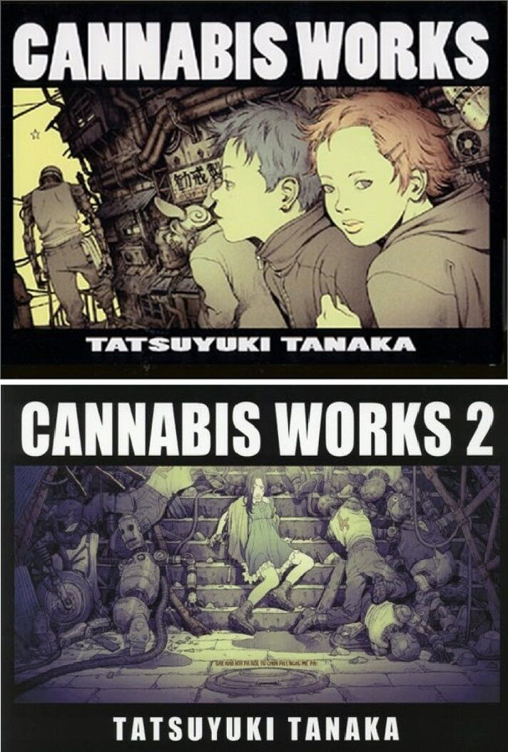 CANNABIS WORKS CANNABIS WORKS2 Tatsuyuki Tanaka Works Illustration Art Book F/S