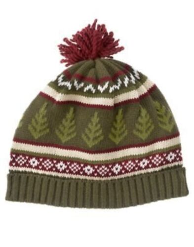 GYMBOREE GRIZZLY LAKE GREEN FAIR ISLE SWEATER BEANIE HAT 0 12 2T 3T 4T 5T NWT