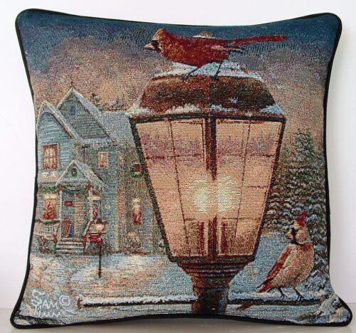 casa por Sam Timm Tapeçaria Travesseiro Nova Inverno-Cardinals no Poste na neve