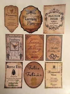 photo about Harry Potter Apothecary Labels Free Printable referred to as Data in excess of Good deal 9 Sticker 3\u201dTall Labels Harry Potter Celebration Pre-Slash Apothecary Felix Felicis