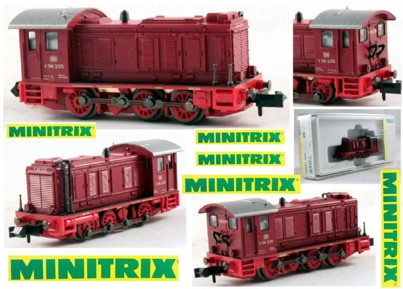 MINITRIX 12535 E-Look DIESEL SWITCHER V36 OVP SCALA-N