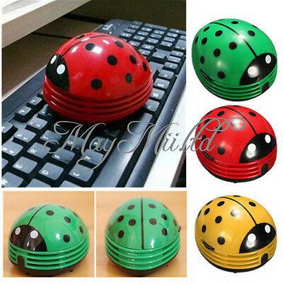 Creative Mini Desktop Vacuum Desk Dust Cleaner  Portable Beetle Ladybug cartoon