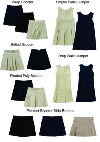 Girls juniors skirt school Uniform Navy Blue 18 1//2 plus NEW French Toast