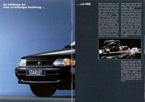 0014TOY Toyota Starlet 1992 4//92 deutsche Ausgabe brochure broszura broschyr