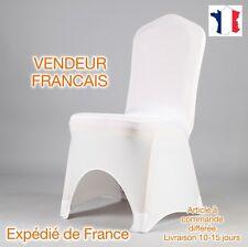 x100 HOUSSES DE CHAISE LYCRA EXTENSIBLE MARIAGE NEUF blanc