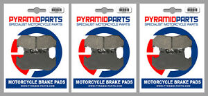 Front & Rear Brake Pads (3 Pairs) for Honda VF 1000 F, FII 84-86