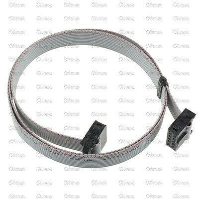 70CM 10 Pin USB ASP ISP JTAG AVR wire 10P IDC Flat Ribbon DATA Cable 2.54mm
