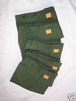 Lot 5 Clayton Electro-press Unhemmed Green Men's Pants Size 30 Button+metal Zip