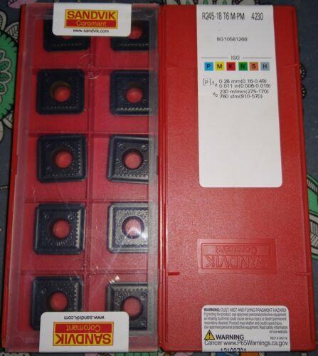 10 pcs Sandvik R245-18 T6 M-PM 4230 milling inserts R245-18T6M-PM 4230