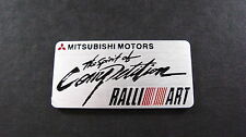 Ralliart Mitsubishi Aluminium Badge COLT EVOLUTION L200 TURBO