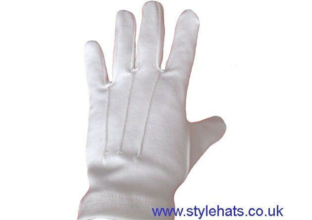 Wholesale 12 Pairs Ceremonial Gloves Cotton Blend 3 Ribbed Gloves