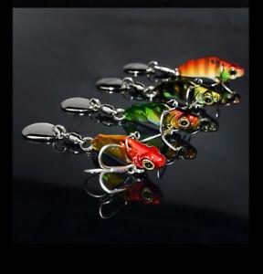 3g mini Bass Spinner Spinnerbait Fishing Bait Freshwater Saltwater Juyang Lure