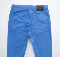 $600 Brioni Slim Fit Light Blue Color Brushed Cotton Jeans Pants 38 Us 54 Euro
