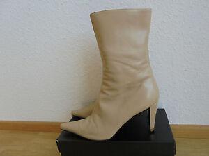 HUGO-BOSS-Leder-Stiefeletten-NP-420-w-NEU-Stiefel-Schuhe-Pumps-Gr-39