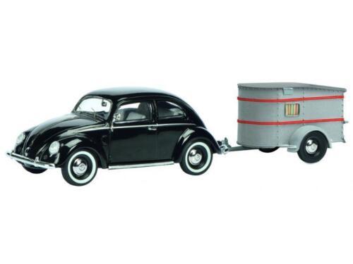 Schuco VW Brezelkäfer mit Anhänger