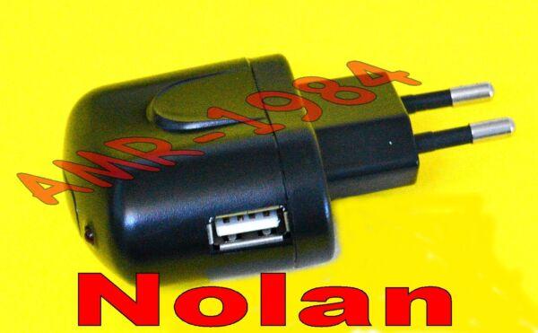 Alimentatore Caricabatteria Nolan N-com Usb Spcom0023 Senza Cavo