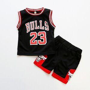 dc6b031527b HOT Kids Baby Boys Girls  23 Michael Jordan Bulls Basketball Jerseys Short  Suit