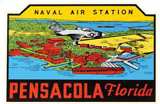 Pensacola, Florida- Naval Air Station Navy  Vintage-1950's  Style  Travel Decal