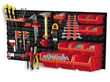 31 Piece Plastic Mounted Wall DIY Tool Organiser Storage Bin & Board Set