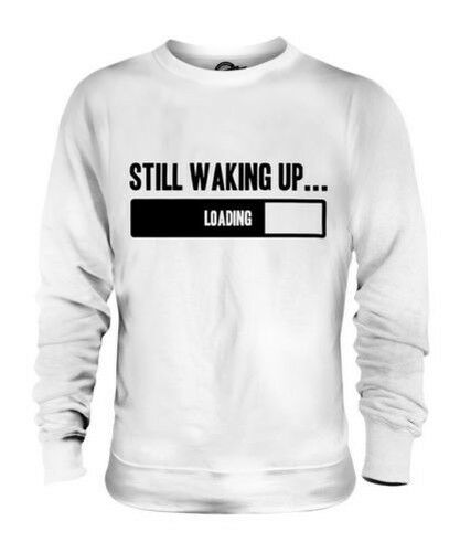Quieto Waking Up Unisex Suéter Regalo Top Divertido Adolescente