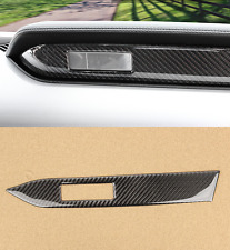 Carbon Fiber Interior Middle Console Cover Trim for Ford Mustang 2015-2017