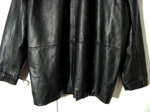xl negro Vtg cuello botón desgastado adler cuero L de Sz con de texturizado grande chaqueta TTqw6B