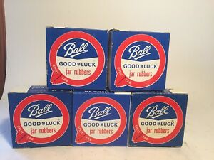 5 Boxes Vintage BALL Regular Jar Rubber Seals New Old Stock Total 60