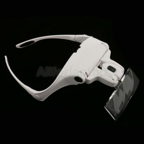 Lupenbrille Juweliere Lupe mit LED Kopfband Lupe Brillenlupe mit Kopfband