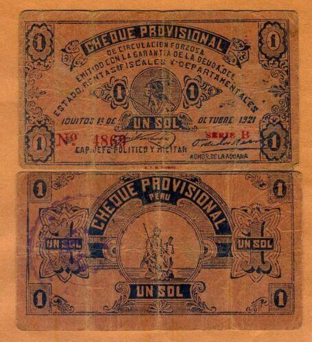 Revolution 1 Sol F Peru 1921 P-S604