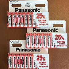 30 Panasonic AA Power zinco carbonio Batterie-Nuovo Doppio a lr6 1.5v scadenza 2019