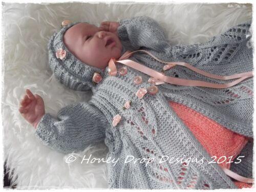 Reborn//Baby 0-3 Months TIPTOE THROUGH THE TULIPS PAPER KNITTING PATTERN
