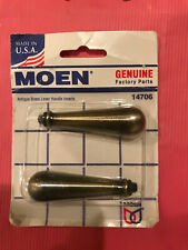 Moen 14706 Traditional Lever Handle Inserts Antique Brass For Sale Online Ebay